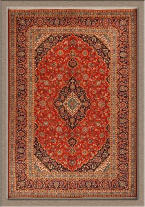 """Weavers always use a """"Persian"""" knot on Kashan rugs"""