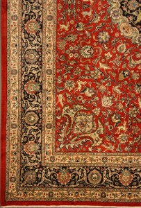 Persian Tabriz-Design with Animals