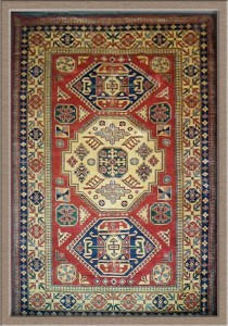 Pakistani Rug with Kazak Design