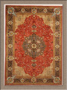 Old Persian Tabriz Rug